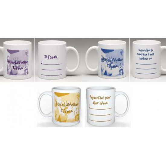 Collection 3 tasses #OseLaVieQueTuVeux™